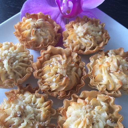 Goat Cheese Tarts by Bourekas, Etc